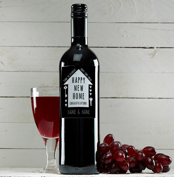 Happy New Home Red Wine - Personalised