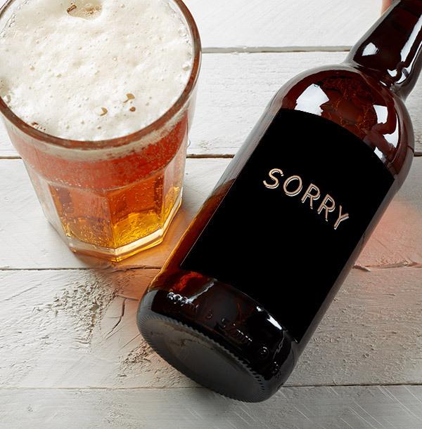 Sorry Personalised Beer - Multi Pack