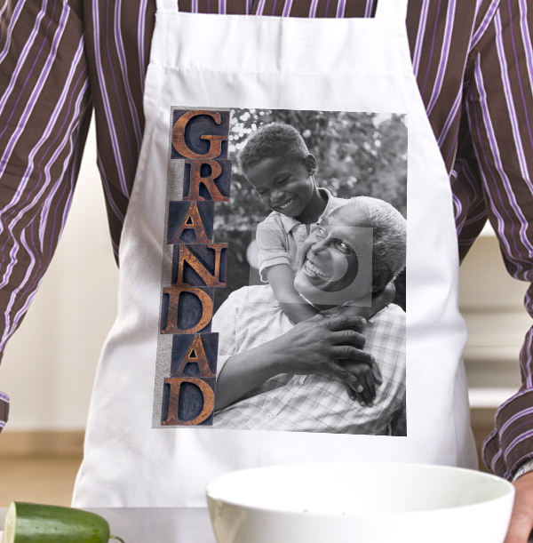 Grandad Full Photo Upload Apron