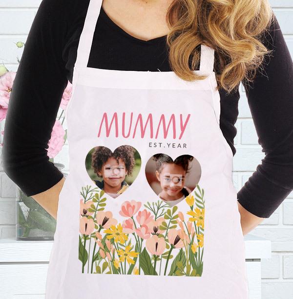 Wild Bloom Mummy Photo Upload Personalised Apron