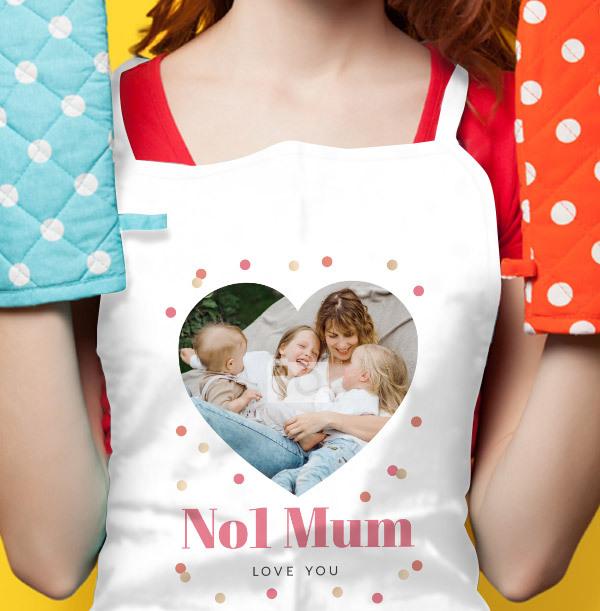 No1 Mum Photo Upload Personalised Apron