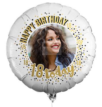 18th Birthday Photo Upload Balloon