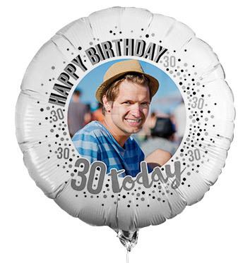 30th Birthday Personalised Photo Balloon