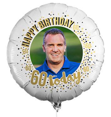 60th Birthday Photo Upload Balloon