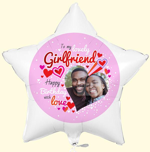 To My Lovely Girlfriend Birthday Photo Balloon