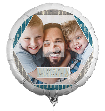 To The Best Dad Ever Full Photo Balloon