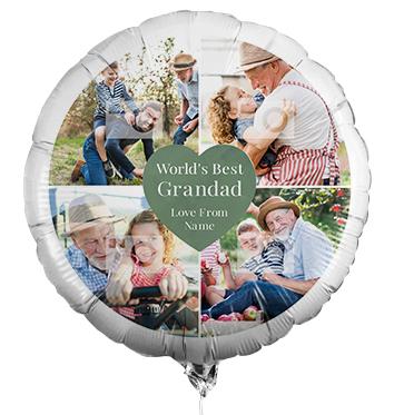 World's Best Grandad Multi Photo Balloon