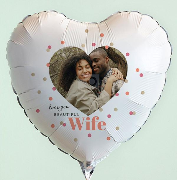Love You Beautiful Wife Photo Balloon