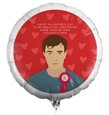 Second Favourite Man Personalised Valentine's Balloon
