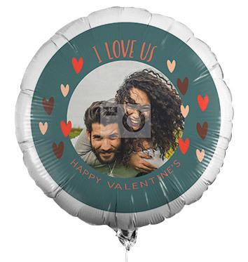I Love Us Valentine's Photo Balloon