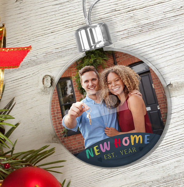 New Home Photo Bauble