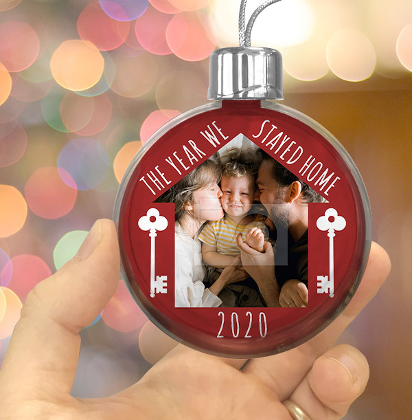 2020 The Year We Stayed Home Photo Bauble