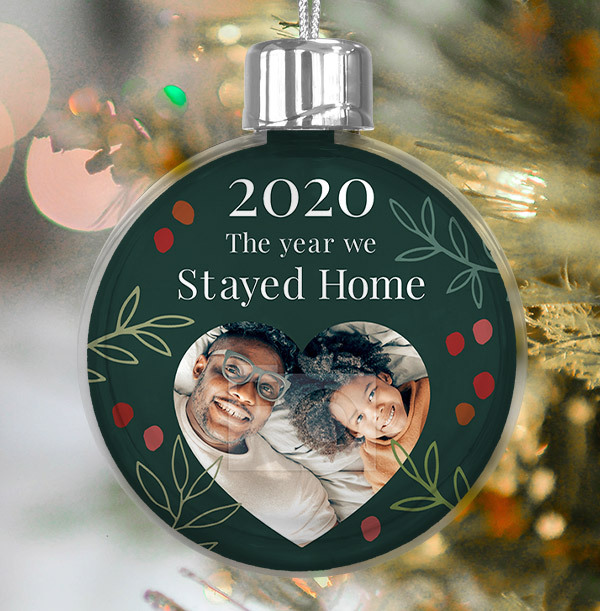 The Year we Stayed Home Photo Bauble
