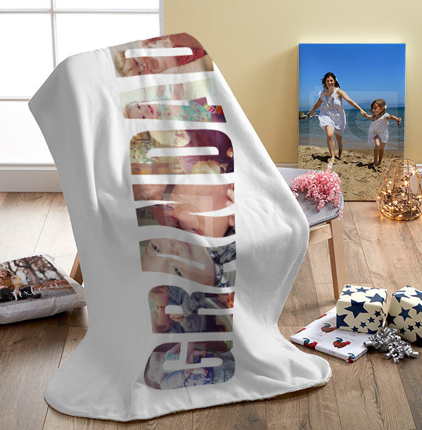 Grandad Photo Upload Personalised Blanket
