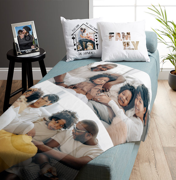 Two Photo Upload Personalised Blanket