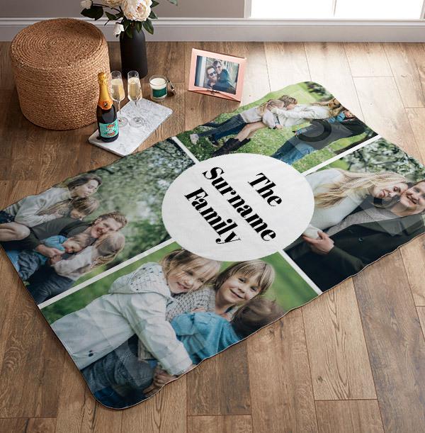 Multi Photo Upload Personalised Blanket