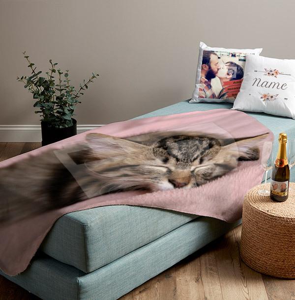 Photo Upload Personalised Blanket - Landscape