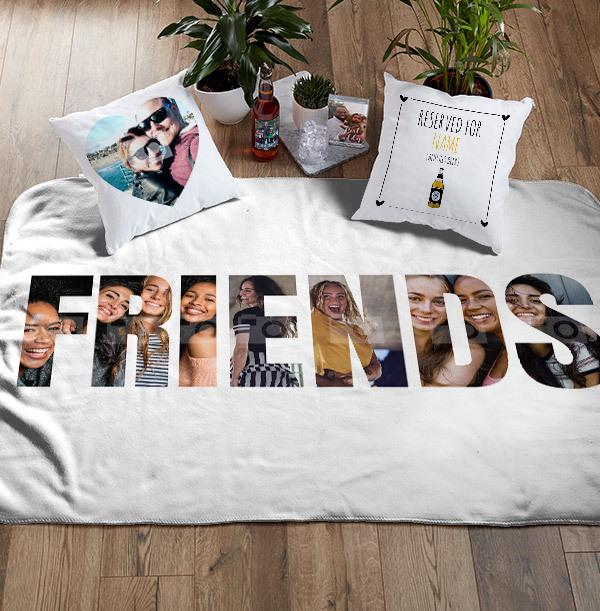 Friends Photo Upload Personalised Blanket