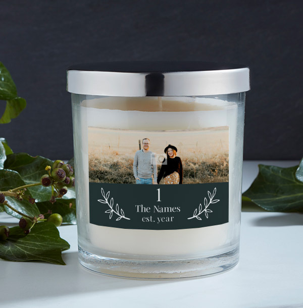 New Home Photo Candle