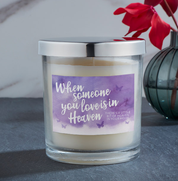 When Someone You Love Is In Heaven Personalised Candle