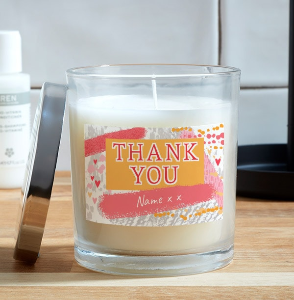 Thank You Personalised Candle