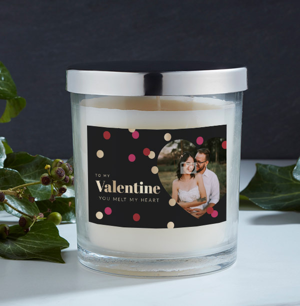 You Melt My Heart Photo Candle