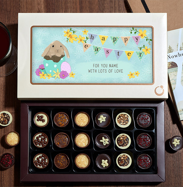 Happy Easter Personalised Chocolate - Box of 18