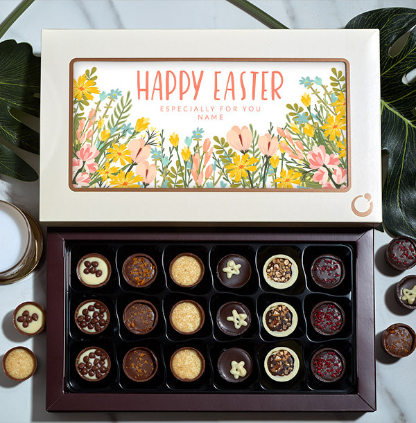 Especially For You Easter Personalised Chocolates - Box of 18