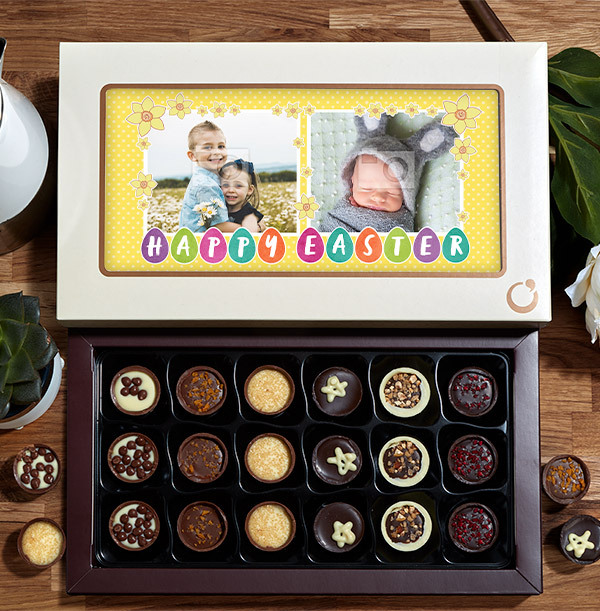 Photo Upload Happy Easter Chocolate - Box of 18