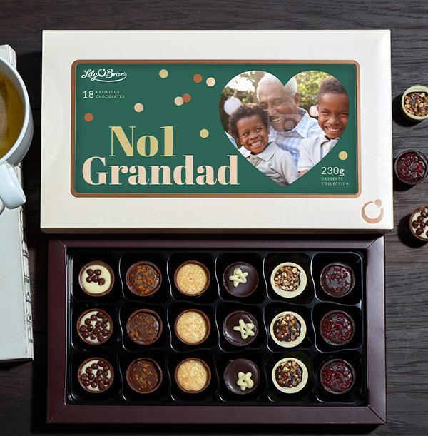 No. 1 Grandad Photo Upload Chocolates - Box of 18
