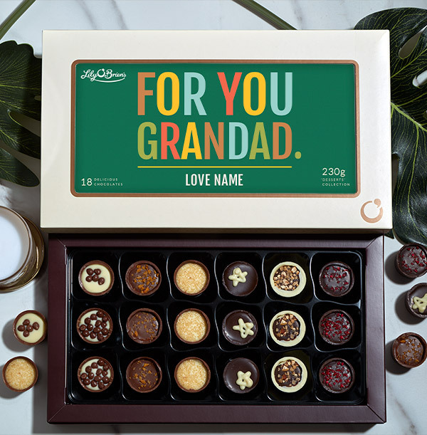 For You Grandad Personalised Chocolates - Box of 18