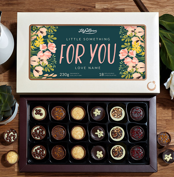 Little Something For You Personalised Chocolate - Box of 18
