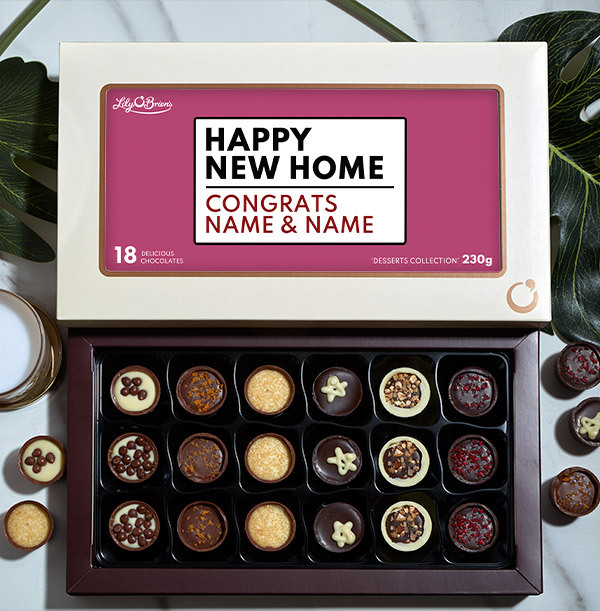 Happy New Home Personalised Chocolates - Box of 18