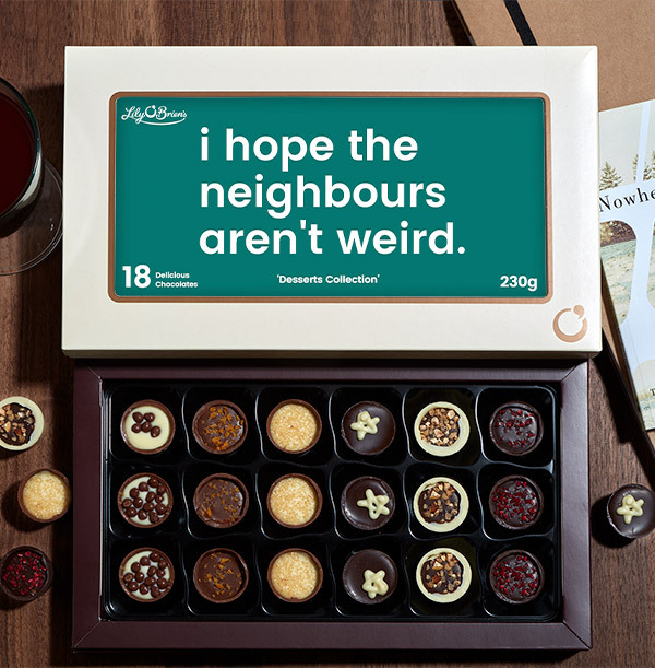Hope the Neighbours aren't Weird Personalised Chocolates - Box of 18