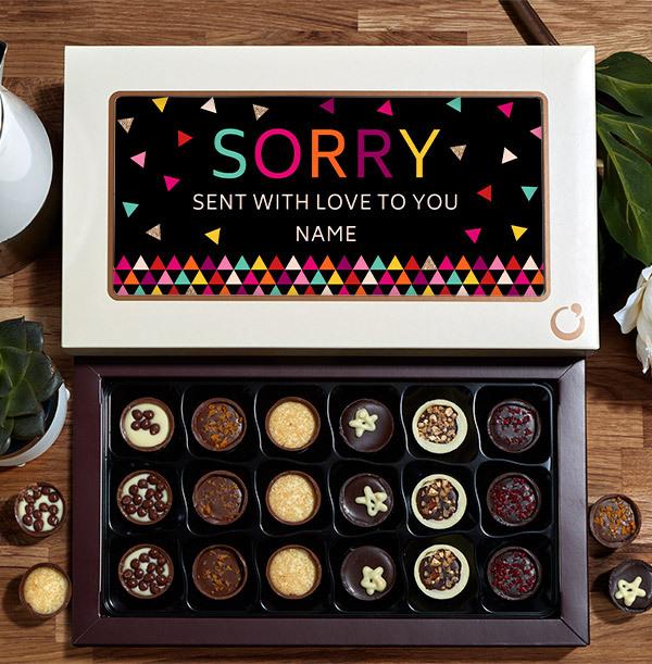Sorry Personalised Chocolates - Box of 18
