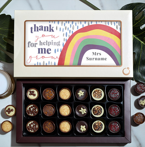 Thank You for Helping me Grow  Chocolates - Box of 18
