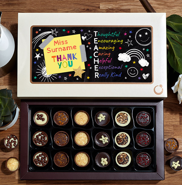 Thank You Teacher  Chocolates - Box of 18