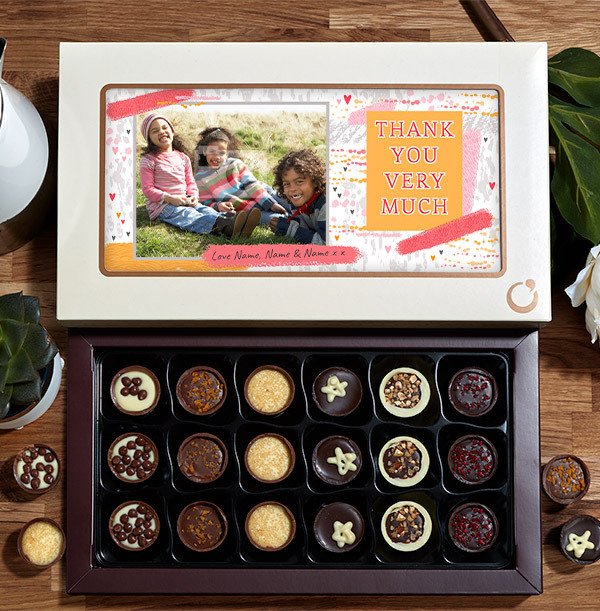 Thank You Photo Chocolate - 18 Box