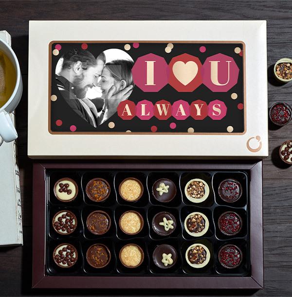 I Love You Always Photo Chocolates - 18 Box