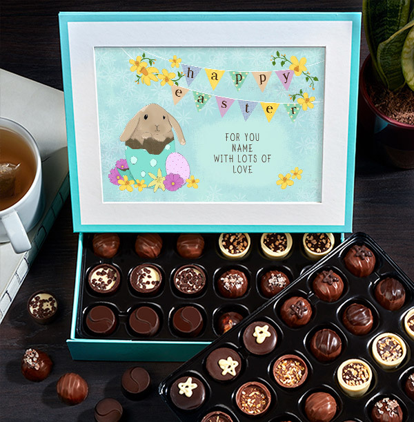 Happy Easter Personalised Chocolate - Box of 60