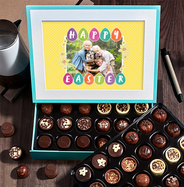 Photo Upload Happy Easter Chocolate - Box of 60