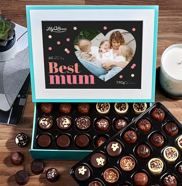 Best Mum Personalised Photo Chocolate - Box of 60