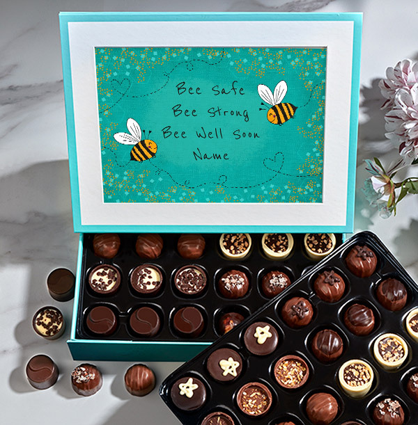 Bee Well Soon Personalised Chocolate - Elite