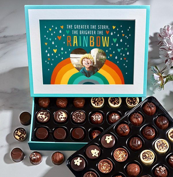 Greater The Storm, Brighter the Rainbow Photo Chocolates - Elite