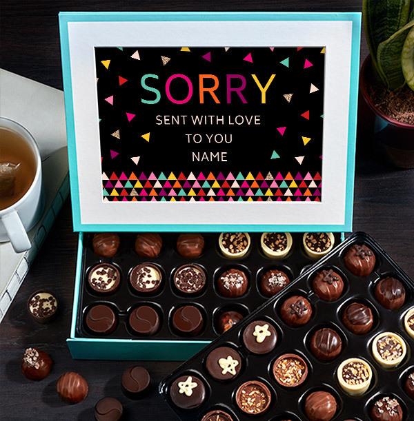 Sorry Personalised Chocolates - Elite
