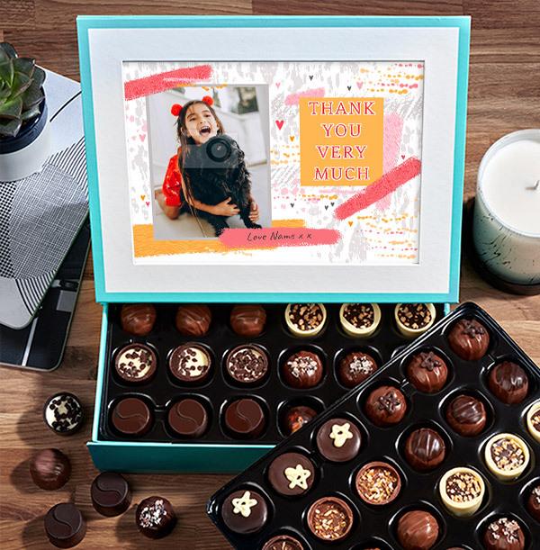 Thank You Photo Chocolates - 60 Box