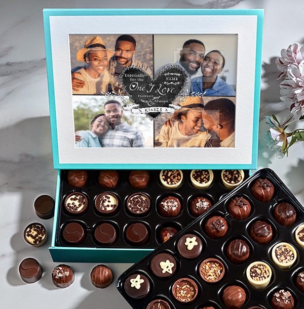 The One I Love Photo Chocolates - 60 Box