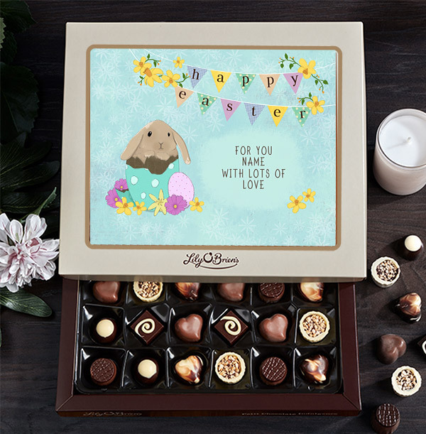 Happy Easter Personalised Chocolate - Box of 30