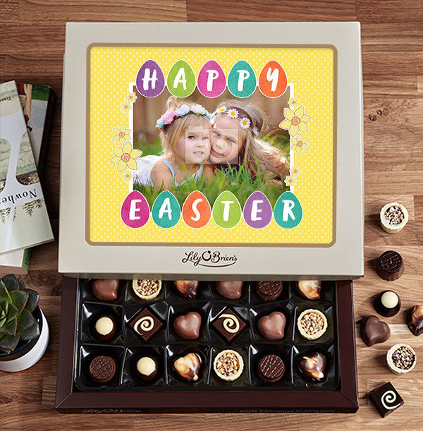 Photo Upload Happy Easter Chocolate - Box of 30