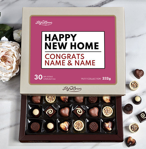 Happy New Home Personalised Chocolates - Box of 30